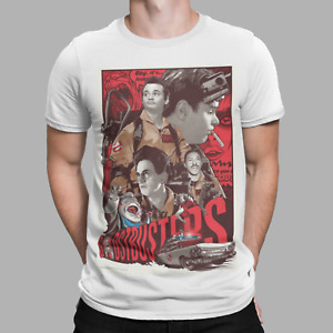 Ghostbusters T-Shirt Stay Puft Marshmallow Man Retro Movie 80s Film Poster