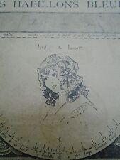 """PATRON ORIGINAL POUR LA POUPEE BLEUETTE """" BONNET DU MATIN   MAI  1919"""