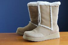 Roxy Idaho cam brown suede boots womens size 10 synth fur lined Orig $70.00