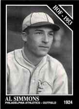 "1991 The Sporting News HOF Baseball Card #49 AL SIMMONS-""BUCKETFOOT AL"""