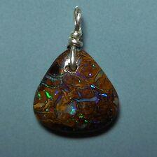 Petit pendentif argent Opale Boulder Koroit Australie 4.3ct VIDEO Opal pendant