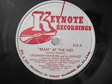 """1944 Jazz 78 COLEMAN HAWKINS I'm In The Mood For Love / """"Bean"""" At The Met *HEAR"""
