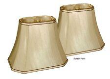 "Silk Soft Back Shades Tan w/Brown Piping (5""x8"")x(10""x14"")x11""- Price per Pair"