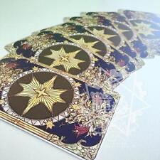 Final Fantasy ff14 Astrologer Magus Secret Card Cosplay Prop A Full Set 6pcs