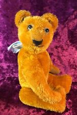 "ANTIQUE 11""/28CM  FRENCH TEDDY BEAR GOLD COLOURED MOHAIR JOINTED COLLECTABLE"