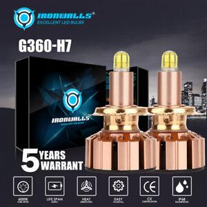 6 Sides H7 LED Headlight Bulb Conversion Kit High Low Beam Fog Lamp 6000K White