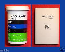 Aviva ACCU-CHEK 50 pezzo di sensori-test strisce ° dal rivenditore Roche ^ NUOVO