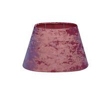 Lampenschirm E27 Cancan Samt rosa Oval  25-15-15cm Ligth & Living für Tischlampe