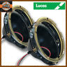 "Pair LUCAS 7"" Halogen Sealed Beam Metal Headlight Headlamp Bowl Kit + H4 Socket"