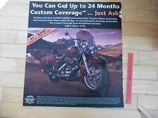 Harley Davidson Motorcycle Dealer Sign 24 Month Custom Coverage Motor accessory