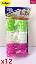 144pcs HOT POT Good Quality Plastic Clothes Pegs String Laundry Pegs 224926x12