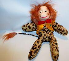 Vintage Handmade Plush Lion Bowtie Sequins vest Plastic Face Stuffed Animal