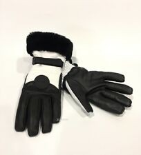 UGG PERFORMANCE SMART GLOVE WITH FUR WHITE / BLACK TOUCHSCREEN COMPATIBLE -L/XL