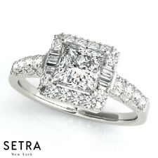 Halo Engagement Ring For Princess Cut Diamond Ring