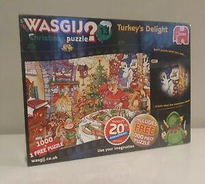 Wasgij Christmas Puzzle 13 Turkey's Delight 2 x 1000 Piece Jigsaw New & Sealed