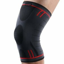 Kuangmi Knee Brace Compression Sleeve Support Pad Joint Pain Relief Size L