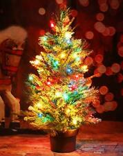 Christmas Tree Tabletop Pre-lit 22 Inch with Ornaments Multi-Colored Lights