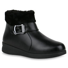 Damen Winter Boots Warm Gefütterte Stiefeletten Keilabsatz Booties 832342 Schuhe