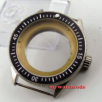 43mm black ceramic bezel sapphire cystal Watch Case fit ETA 2824 2836 MOVEMENT82