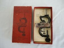 """Rare Antique """"THE BOSTON SEWING CLAMP AND BUTTONHOLE CUTTER"""" w/ Box & Instructs"""