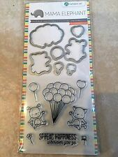 Clear Acrylic Stamp & Die Set by Mama Elephant Up We Go Balloons SC0766 NEW