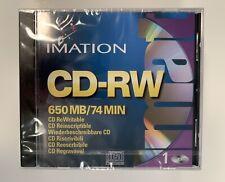 Brand New Lot of 8 Sealed Imation CD-RW 74 Min 650 MB Slim Jewel Cases