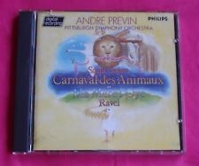 Andre Previn Philips W Germany blue face Saint-Saens Le Carnaval des Animaux CD