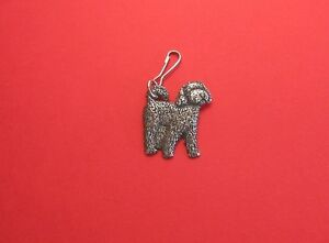Cockapoo Dog Pewter Zipper Pull Mum Dad Vet Christmas Useful Gift Free Pouch NEW