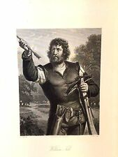 "Friedrich Schiller Play ""William Tell""  8 Character Prints Steel Engravings 1867"