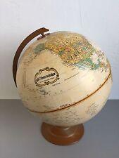Vintage Replogle Globemaster 12 Inch Globe LeRoy M. Tolman Raised Metal base