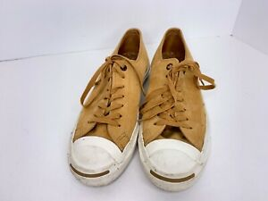 CONVERSE JACK PURCELL OX Brown Leather Cork Sneakers Men's 7.5 - Women's 9