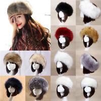 Women Russian Faux Fur Hat Winter Ski Ear Ushanka Cossack Beanie Slouchy Caps