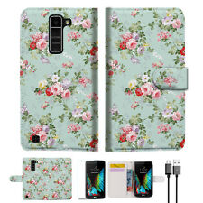 Royal Garden Wallet Case Cover For LG K10 Dual 4G LTE-A023