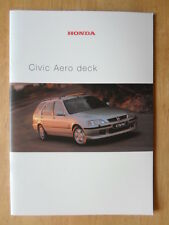 HONDA CIVIC AERODECK orig 2000 UK Mkt Prestige Sales Brochure