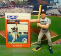 1988  JIM PRESLEY - Starting Lineup - SLU - Figure & Card - Seattle Mariners