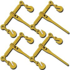 "Set 4 PC Ratchet Load Binder Rigger 5/16"" 3/8"" Binders Chain Tie Down Rigging"