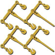 "Set 4 PC Ratchet Load Binder Rigger 5/16"" 3/8"" Binders Chain Tie Down Rigging"