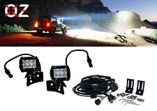 "Jeep Wrangler pod Mount + D4D 4"" LED bar SPOT Beam wiring Kit cube  JK JKU 07-17"