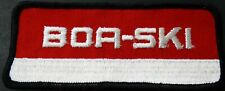 """VINTAGE BOA-SKI SNOWMOBILE PATCH NEW 2"""" X 5"""" RARE SIZE COLLECTOR QUALITY (742)"""