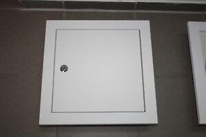 Wäscheschacht - Tür  , grundiert mit Zylindersch. NW350