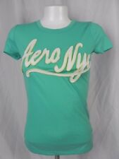 NEW Aeropostale Blue Green Aero NYC Embellished T-Shirt Size S