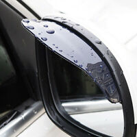 1 Pair Car Rear View Mirror Snow Rain Eyebrow Sun Visor Shield Universal Black