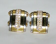 0.80CT NATURAL ROUND DIAMOND 14K SOLID YELLOW GOLD CUFF LINK FOR MEN