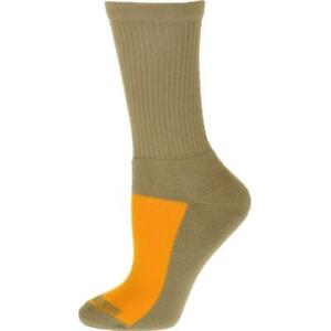 Unisex Cotton Crew Mesh Top Cushioned Sole Performance Smooth Toe Seaming Socks