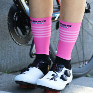 Pro Mens Womens XC Cycling Socks Road Riding Bicycle Sports Ankle Socks White
