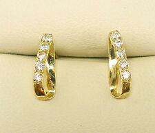 9 Carat YELLOW GOLD  STUD EARRINGS CREATED DIAMOND