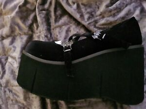 Demonia platform shoes Bats Mary Jane Platforms size 7 bnib