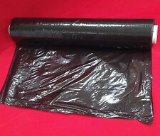 1 x rolls BLACK pallet wrap stretch 500mm x 250m - 25mu