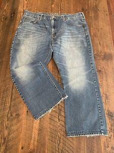 Men's AMERICAN EAGLE BOOTCUT Jeans Tag Size 38 x 30 Actual Size 38 X 26 Distress