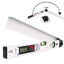 DIGITALER LCD WINKELMESSER MIT WASSERWAGE WINKEL MESSGERÄT 0-220 GRADMESSER